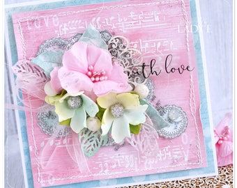 WITH LOVE Unique Handmade Any Occasion Card