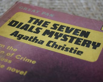 The Seven Dials Mystery. Agatha Christie. Great PAn Books. A Vintage Paperback Book. 1962