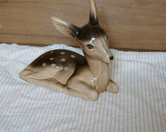 Vintage Collectible Large Ceramic Deer Figurine, Ornament, Retro,Woodland Animals, Display, Gift, Mother,Sister, Wife, Daughter, Nan, Friend