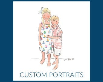 Custom Watercolor & Ink Portrait