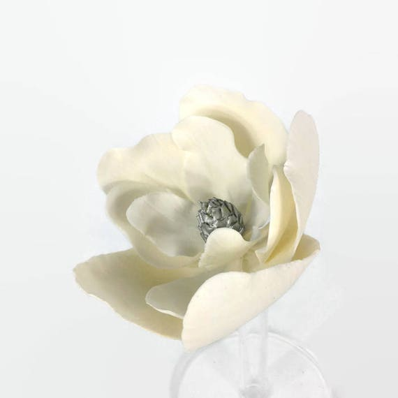 Large Silver and White Magnolia
