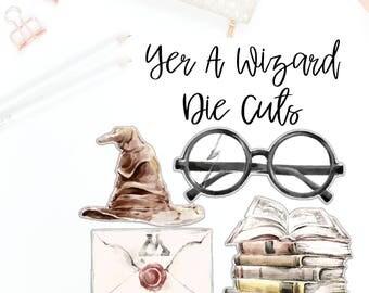 Yer A Wizard Die Cut Set