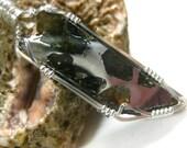 Russian Pallasite Meteorite Pendant (Seymchan) in Sterling Silver Wire