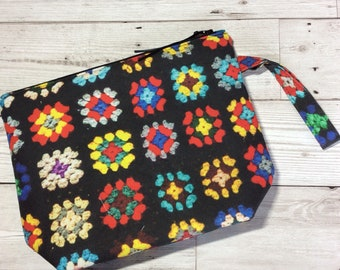 Small zipped project bag - Crochet