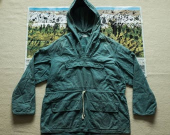 1940's 50's British Mountaineering Smock Anorak Parka Jacket Blue Rain Nigel Cabourn Buzz Rickson RRL lvc biking waterproof camping everest