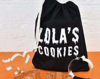 Sale Set Of Halloween Personalised Cookie Cutters - Halloween Cookie Cutters - Personalised Gifts - Halloween Baking - Halloween