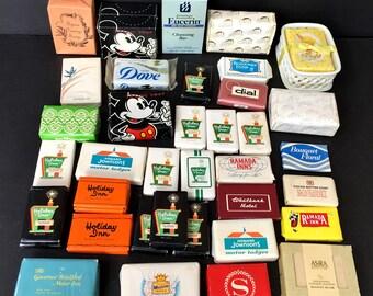 Lot of 37 Bars of Mini & Full-Sized Soaps