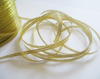 10 m 3mm gold organza Ribbon