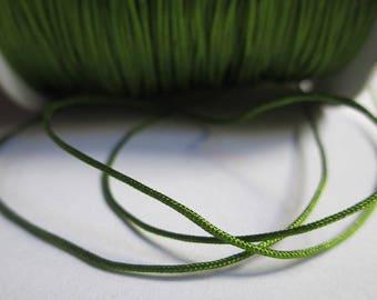 5 m nylon string green olive 0.8 mm