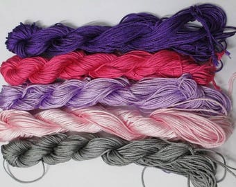 5 skeins nylon thread woven blend of color 1 mm