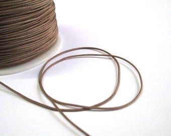 5 m taupe nylon thread woven 1 mm