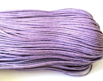 10 meters of waxed cotton thread Purple 1.5 mm