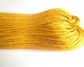 10 meters 0.7 mm orange waxed cotton thread