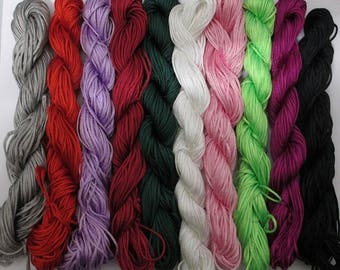 10 skeins nylon thread woven blend of color 1 mm