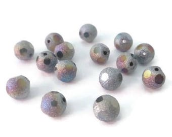 10 pearls 8mm dark gray frosted crital