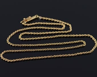"""14k 1.6mm Loose Link Chain Necklace Gold 18.25"""""""