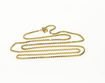 14k 1.1mm Box Link Chain Necklace Gold 18""