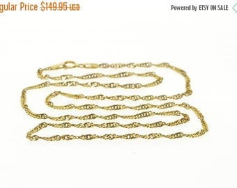 Big SALE 14k 1.8mm Pressed Rolling Curb Link Chain Necklace Gold 18""