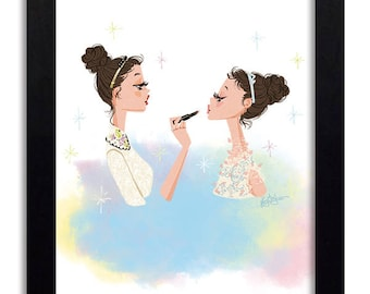 Red Valentino Girls - Fashion Illustration Print Fashion Print Fashion Art Print Fashion Wall Art Fashion Poster Fashion Sketch