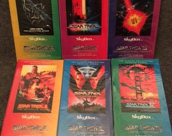 1994 Star Trek Skybox Collectors Cards set of 6