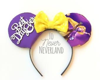 Rapunzel Ears, Rapunzel Tangled Ears,  Tangled Mickey Ears, Tangled Best Day Ever Mickey Ears, Tangled Minnie Ears, Best Day Ever Ears