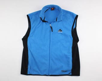 90s Nike ACG Spell Out Full Zip Fleece Sweater Vest Mens XL, Vintage Nike  Vest
