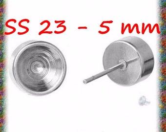 10 ear studs in stainless steel earrings for ss23