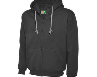 VERDI Comfort Men's Fleece SweatShirt Jacket Hooded Zip Hoodie 100% Fleece