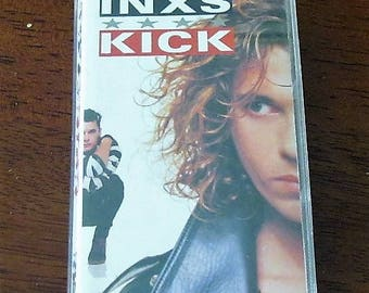 INXS, Kick Album, Cassette Tape, 80s Pop Rock, 80s Alternative Rock
