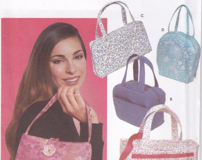 FREE US SHIP Simplicity 5968 Craft Bags Purse Tote Hand Bag Handbag Attached Wallet zipper coin New Sewing Pattern New2002 Out of Print