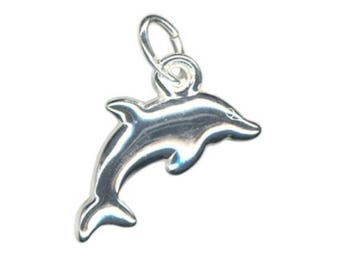 Dolphin Charm - Sterling Silver - 15mm