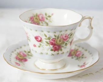 Beautiful Vintage Royal Albert Gainsborough Cup and Saucer,  Gaiety Series 'Minuet', England