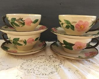 Desert Rose Franciscan Ware-Deert Rose Cup and Saucer-Desert Rose made in USA- Desert Rose Made in England-Vintage Desert Rose-Franciscan