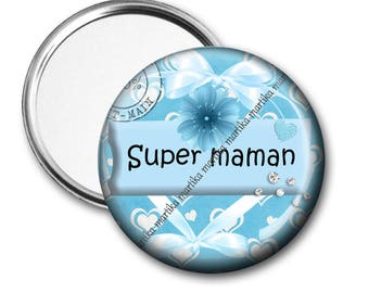 Super MOM/gift 50 mm Pocket mirror