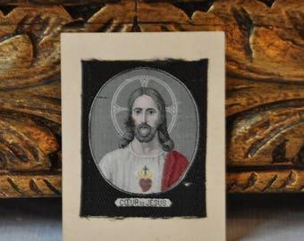 15 % SALE Antique French Jesus Christ Religious Cards, Religious Catholic Christian, Paper Ephemera Souvenir, Christ, Made in France