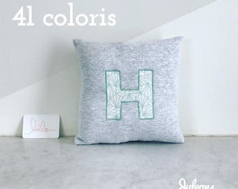 Initial cushion - size S - 41 colors to choose from-custom gift for young and old