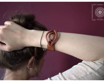 Leather bracelet, Leather bracelet women, Bangle bracelet, leather cuff bracelet women, leather wristband.