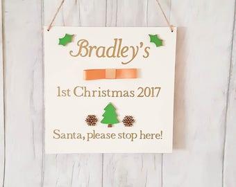 1st Christmas keepsake plaque