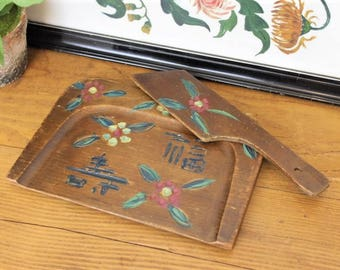 Vintage Wooden Crumb Tray/Oriental Crumb Tray/Japanese Decorative Tray/SALE (Ref1964X)