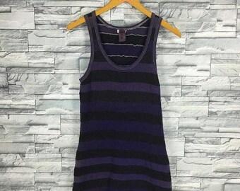 COMME DES GARCONS Tao Shirt Women Singlets Long Garcons Japan Designer Stripes Shirt Tank Top Junya Watanabe Women Stripes Sleeveless Dress