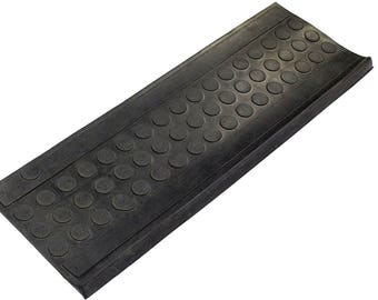 3 Piece Non Slip Heavy Dutty Recycled Rubber Dots Stair Treads For  Commercial /