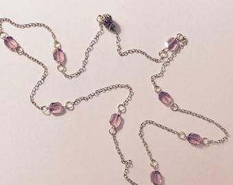 Amethyst Swarovski Crystal Necklace