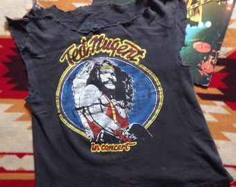 Vintage 80s Ted Nugent Cat Scratch Fever Tour Tee