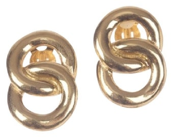 Givenchy 18 kt Gold Plated Double Hoop Earrings