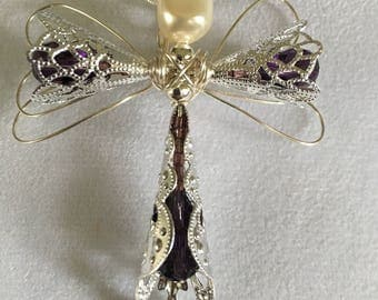 Purple Angel Pendant