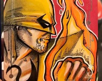 Iron Fist Original Artist Sketch Card: Guardians of the Galaxy Volume 2, Upperdeck