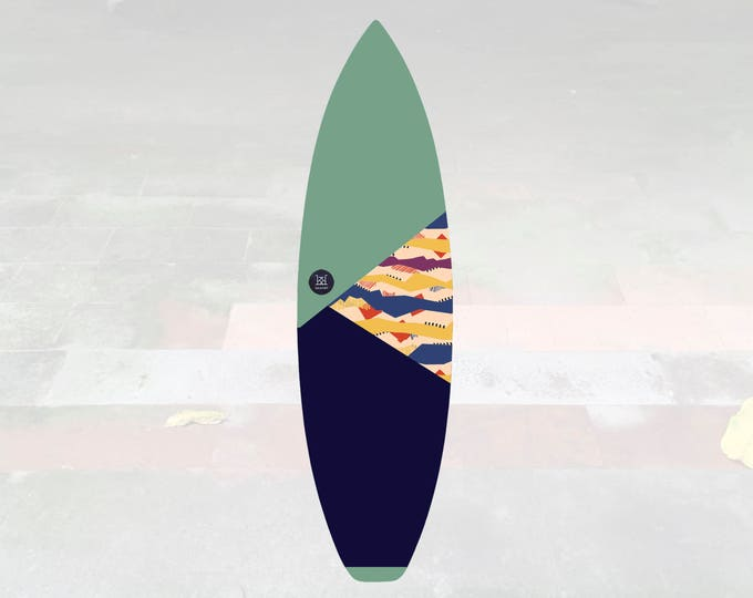 NEW IN   Volcan-Oh   Surfboard Sock   Triangle Pistachio