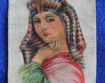 Antique Tobacco Silk, Cleopatra, Queen of Egypt, factory No. 25,  2'nd District, VA