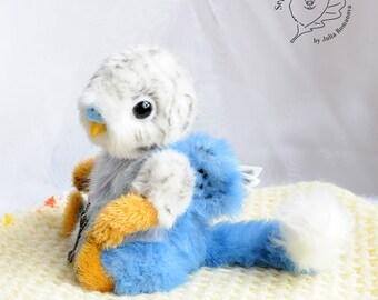 RESERVED Artist grifin cub Teddy Bear friend OOAK budgie grifin Cheglok