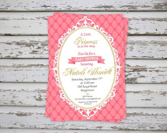 Princess Baby Shower Invitation, Princess Baby Shower Invite, Princess Baby Shower, Royal Baby Shower Invitation, Princess Baby DIGITAL FILE